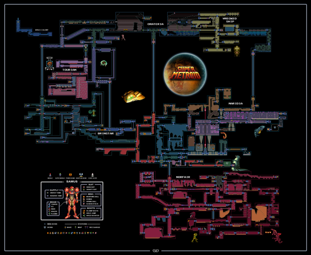 Figure 4. Super Metroid Map